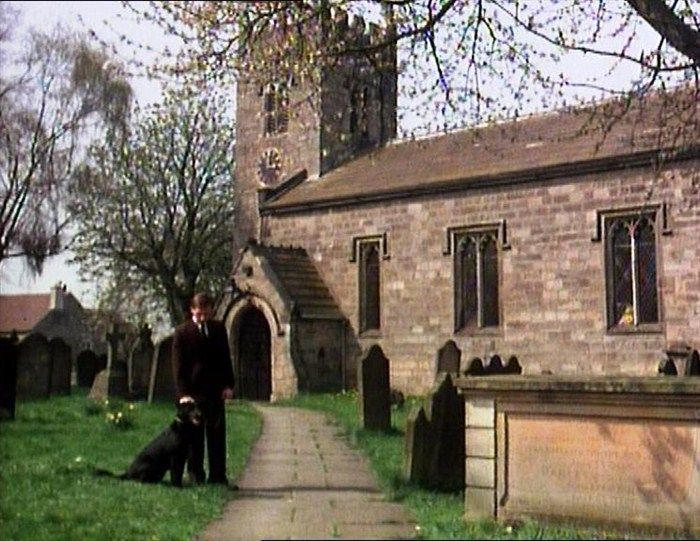 Cats & Dogs (1978) St Bartholomew's Church, West Witton, Wensleydale, North #Yorkshire- James attends Mr Dean's funeral. #James_Herriot #All_Creatures_Great_And_Small #Yorkshire_Dales