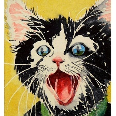 I don't even like cats but I love this artwork...the colors, the excitement