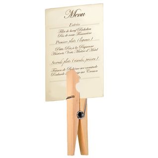 pince linge g ante porte menu en bois naturel mariage juin pinterest. Black Bedroom Furniture Sets. Home Design Ideas