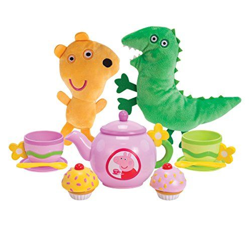 It's time for tea with Peppa's teddy and George's dinosaur. In this 11-piece set Peppa has prepared a full afternoon tea for you to enjoy with plush Mr Dinosaur and Teddy cupcakes teacups ...