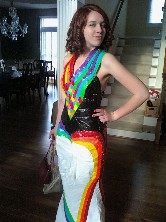 steampunk duct tape dresses | Duct Tape Prom Dresses Short