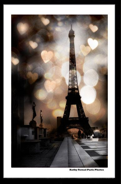 Paris Photography Eiffel Tower Sepia Dreamy Eiffel by KathyFornal, $18.00  YES   great for dining room!