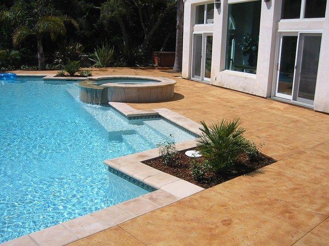 Brown Smooth Concrete Pool Decks Tom Ralston Concrete