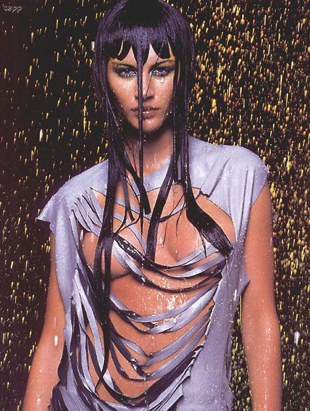 Gisele Bündchen for Alexander McQueen Spring/Summer 1998 ad campaign.