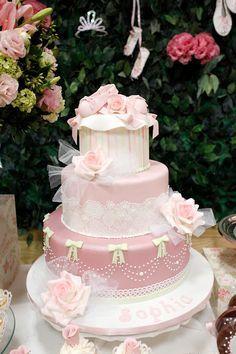 bolo decoração bailarina