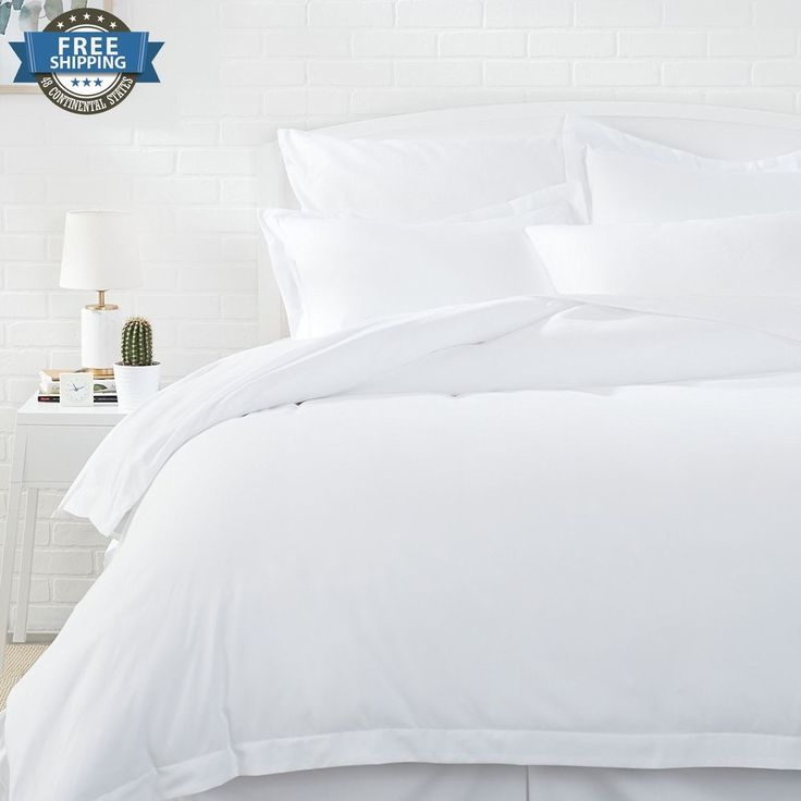 Bedding Set,Queen Size,Comforter Cover,Matching Sets Twin,3 Pc,Microfiber white #AmazonBasics