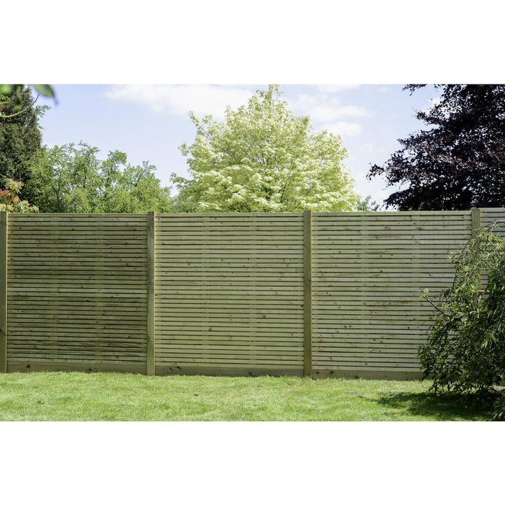 Wooden Contemporary Garden Fence Panel by Grange   Click4Garden