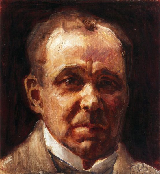 """Portrait of Eino Leino"" (1917) by Akseli Gallen-Kallela"