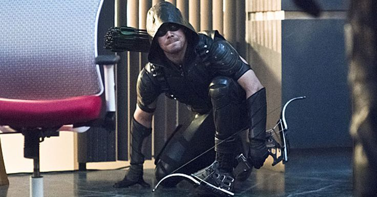 """Arrow"" Photos Feature Bug-Eyed Bandit's Masked Henchman - When the insect-based villain returns to attack Team Arrow, she brings some mysterious, masked muscle with her."