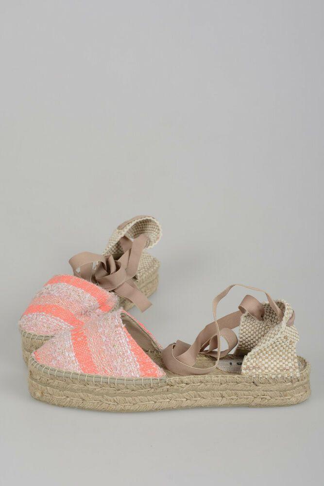 1c49b26a5a5 MANEBI New Woman Pink IBIZA HANDMADE ESPADRILLES Sandals Shoes Sz 39 ...