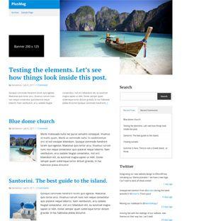 PlusMag Blog / Magazine theme for WordPress