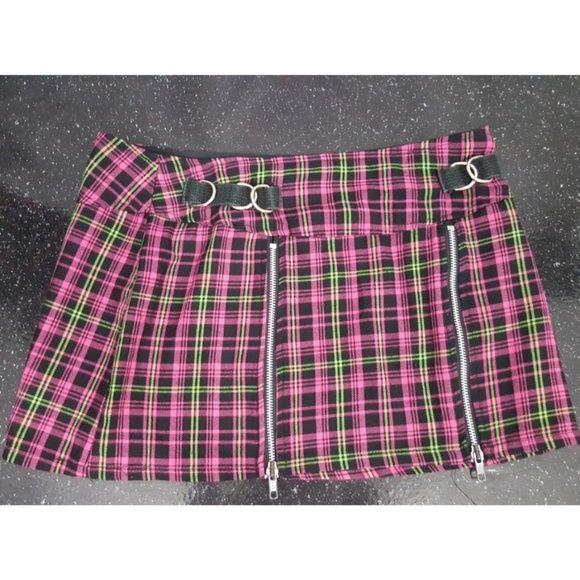 LIP SERVICE (Hot Topic) Punk & Disorderly short skirt #46-304-HT