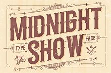 Midnight Show typeface by AlterDeco Type Foundry