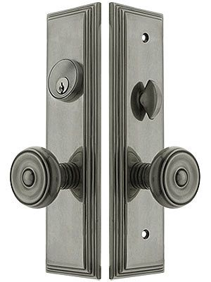 Manhattan Mortise Lock Entry Set with Waverly Knobs | House of Antique Hardware