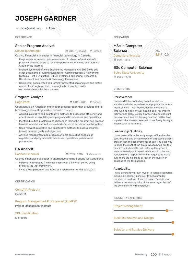 48+ Program analyst resume cover letter ideas in 2021