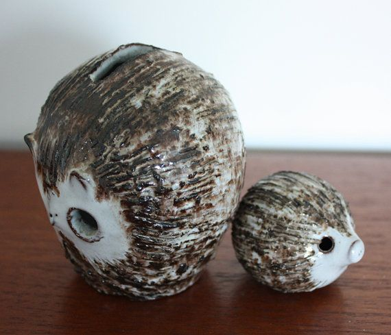 Vintage Briglin Pottery Owl Moneybox and by janestangerinehouse