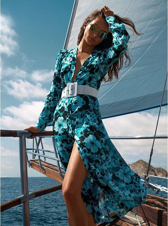fae102f63ab Floral Chiffon Shirtdress | Fashion | Michael kors fashion, Floral ...