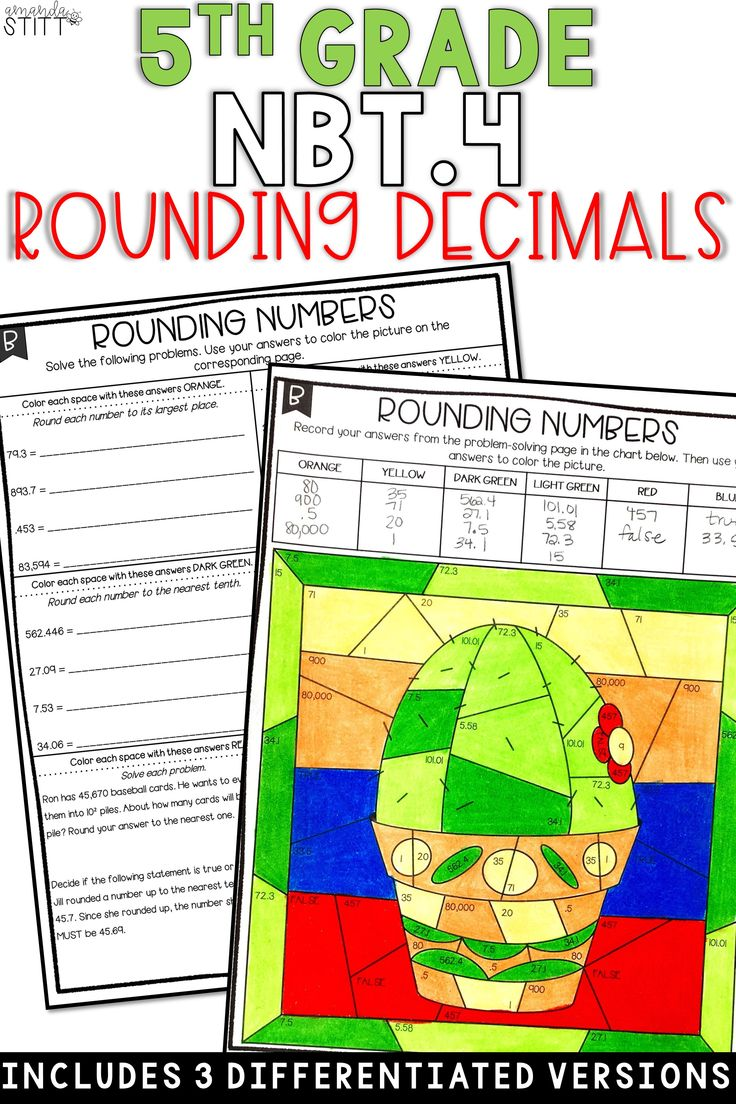 Place Value Activity | Rounding Decimals | 5th Grade NBT.4 ...