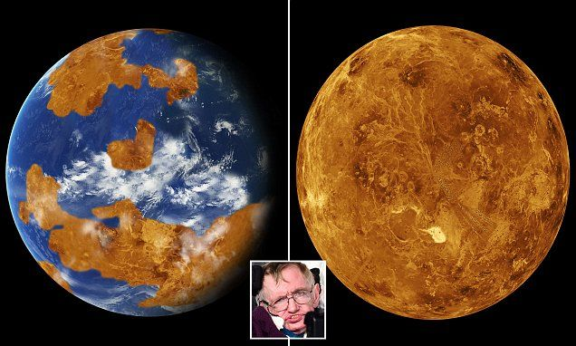 Stephen Hawking warns Earth will become a hellish Venus-like world with unbearably hot temperatures if climate change continues on its current path - Professor Stephen Hawking, from Oxford, has predicted our planet will one day look like Venus with surface temperatures of460°C (860°F) if global warming continues.