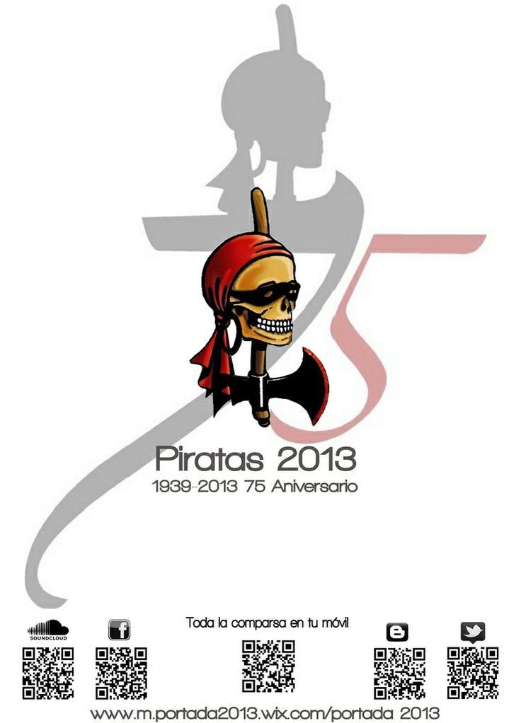 Portada revista interior Comparsa de Piratas de Villena 2013