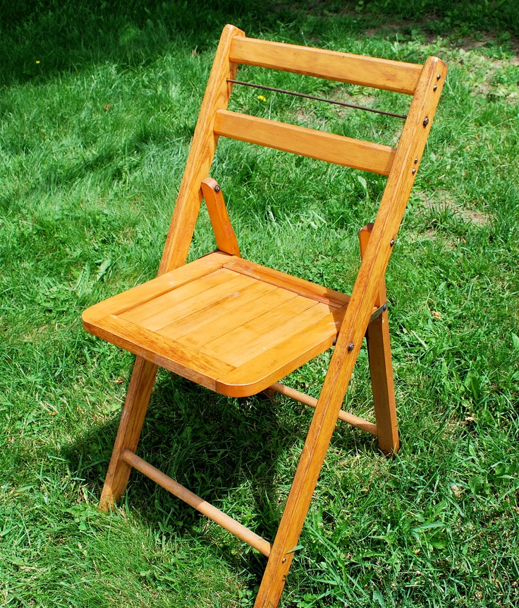 Beautiful Vintage Folding Wooden Chairs
