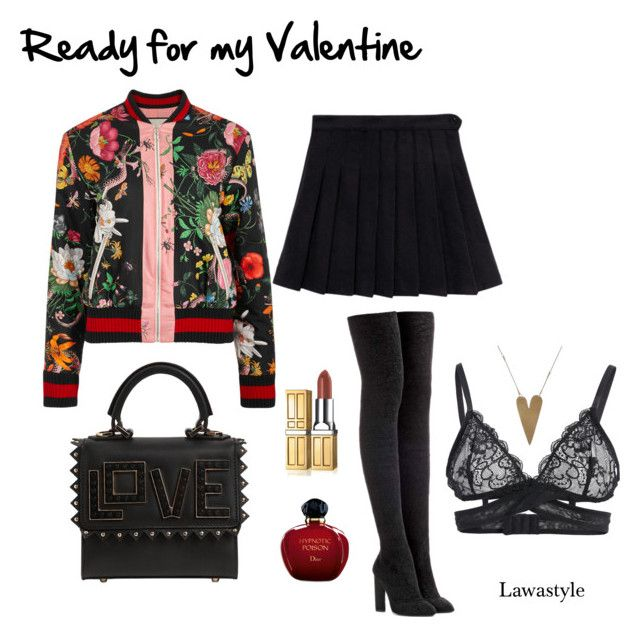 """""""Ready for my Valentine"""" by lawastyle on Polyvore featuring Gucci, adidas Originals, Les Petits Joueurs and Christian Dior"""