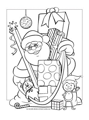 santa coloring page christmas printable in 2020  christmas coloring books christmas coloring