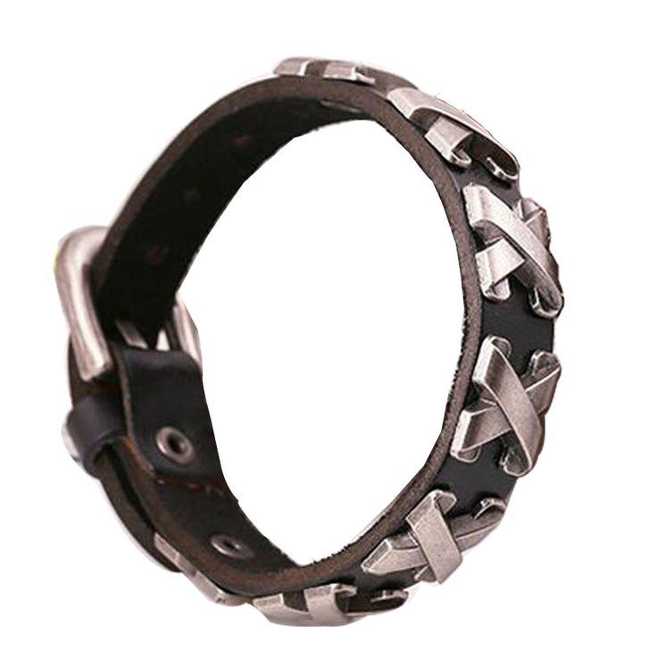 es.aliexpress.com store product Leather-Thick-Male-Bracelet-Metal-Cross-Rivets-Studded-Belt-Cuff-Bracelets-Bangles-For-Women-Men-Single 1332579_32689375014.html?spm=2114.04010208.3.326.UJ7ZpS&ws_ab_test=searchweb0_0,searchweb201602_1_10065_10068_433_434_10136_10137_10138_10060_10062_10056_10055_10054_302_10059_10099_10103_10102_10096_10052_10053_10050_10107_10051_10106_10084_10083_10080_10082_10081_10110_10111_10112_10113_10114_10078_10079_10073_10070_10122_10123_10126_6000000_1...