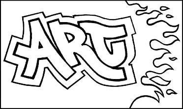 Graffiti Names -teach color groups, also teach simple shadow and 3D techniques