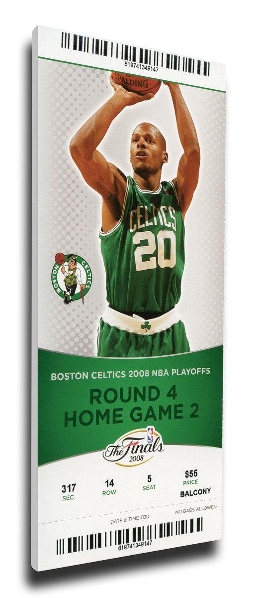 2008 NBA Finals Canvas Mega Ticket - Game 2, Allen - Boston Celtics