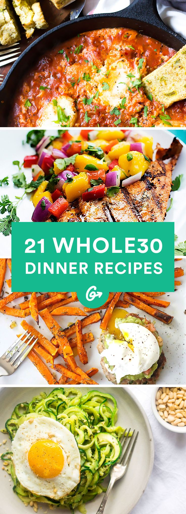 21 Easy and Delicious Whole30 Dinner Recipes #whole30 #recipes http://greatist.com/eat/whole30-dinner-recipes