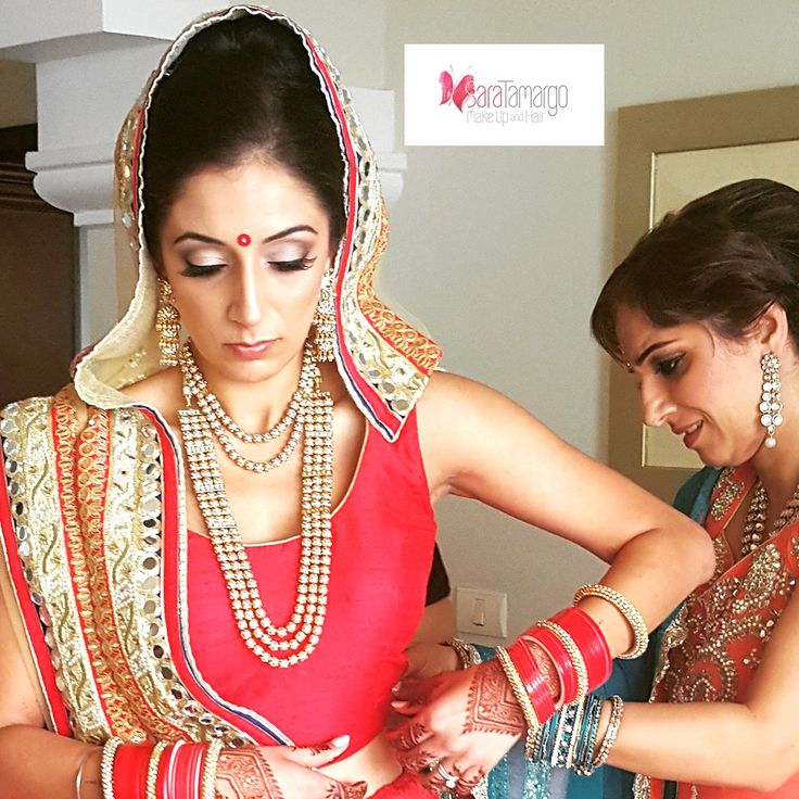 Idea for Hindu wedding makeup and hair and dress