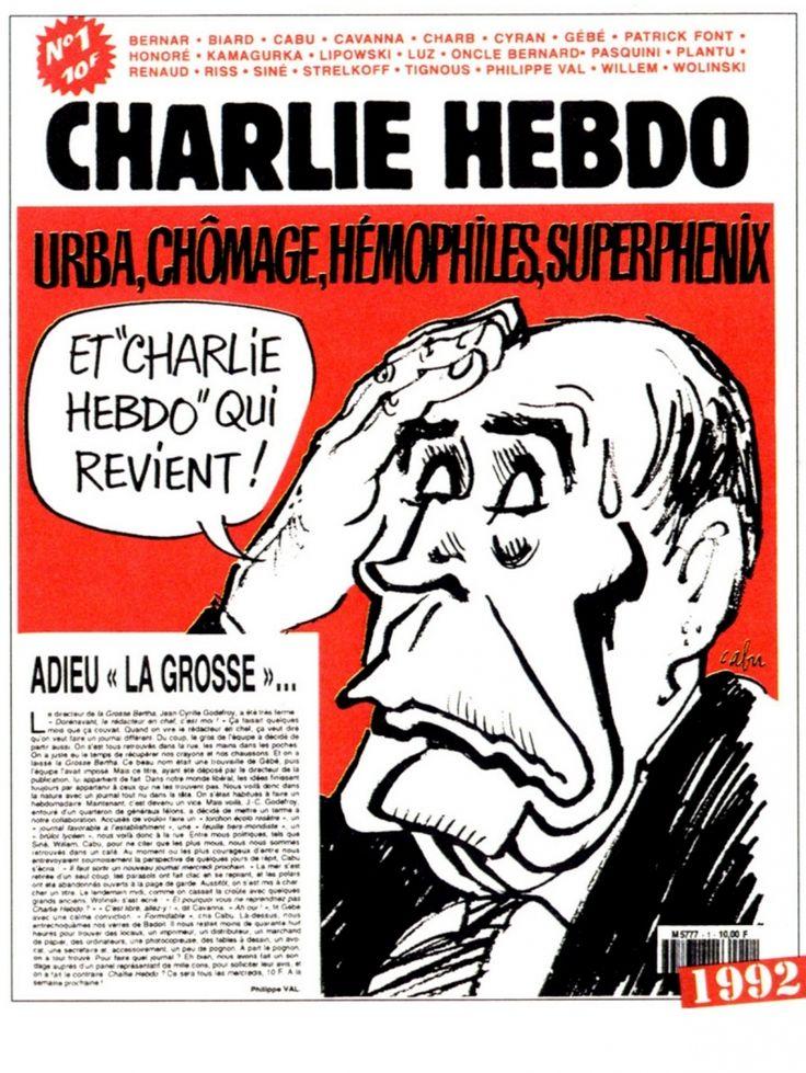 Charlie Hebdo - # 1 - 1er Juillet 1992 - Couverture : Cabu