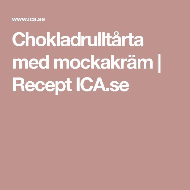 Chokladrulltårta med mockakräm   Recept ICA.se