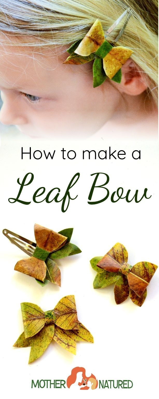 Try this gorgeous leaf craft and make a leaf bow!