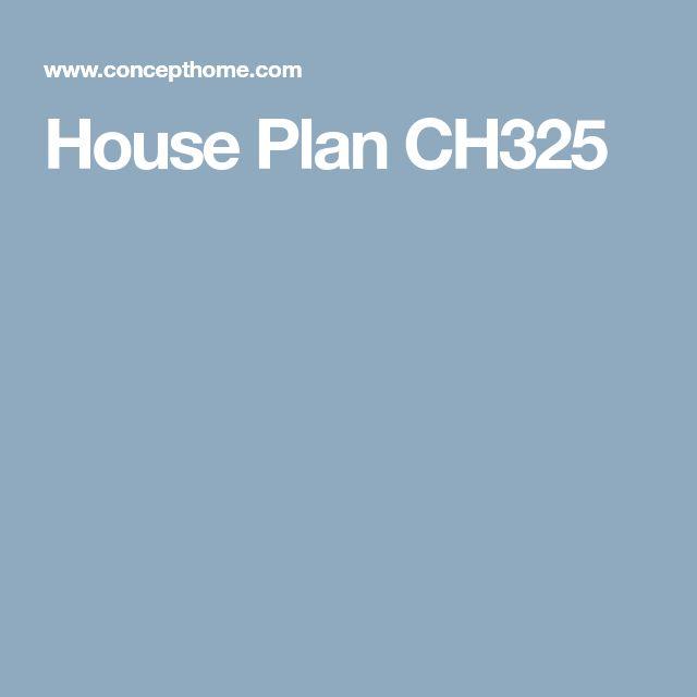 House Plan CH325