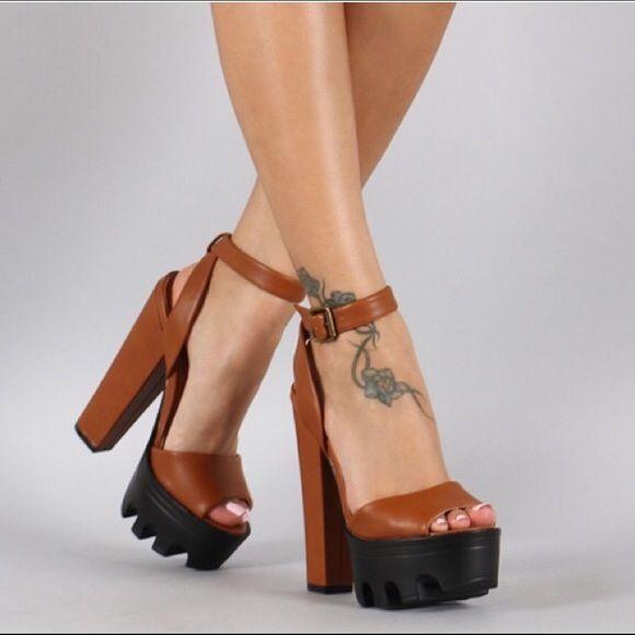 "LUNCH TIME SHOE SALE Peep Toe Platform Heel height: 6.25""w/ 2"" platform Shoes"