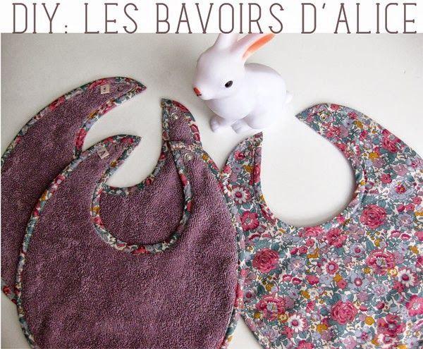 DIY : bavoirs ( tuto + patron simple )