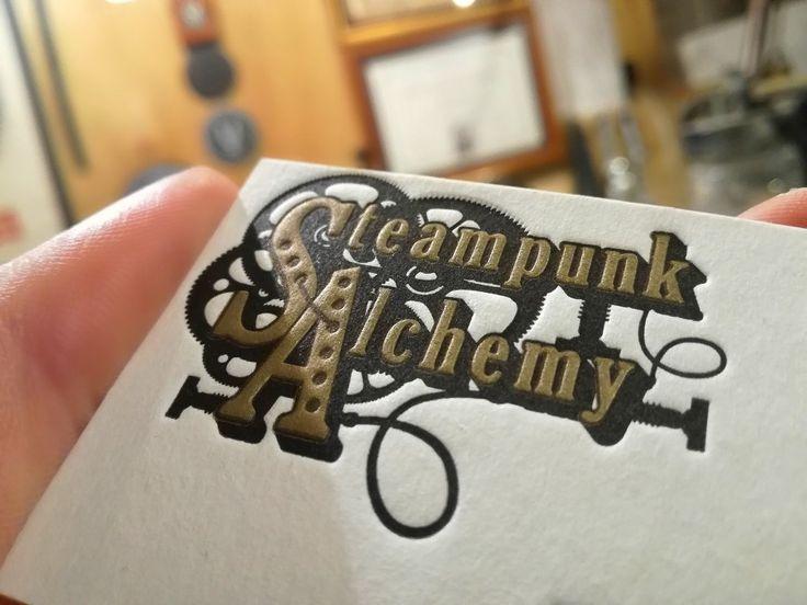 Steampunk Alchemy card. #steampunk #letterpress #szililetterpress