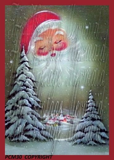 Quilt BLock Santa Clause is Watching You by mermaidfabricshop
