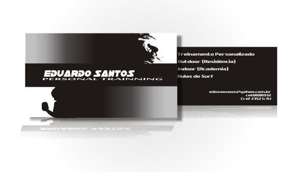 Cartão de visitas para personal trainer - RJ.