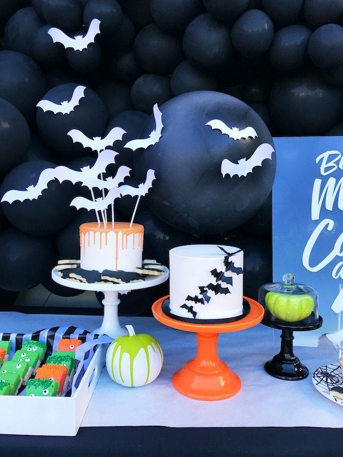 Spooky Halloween Birthday Party Kara S Party Ideas Birthday Halloween Party Halloween Birthday Party Decorations Halloween Themed Birthday Party