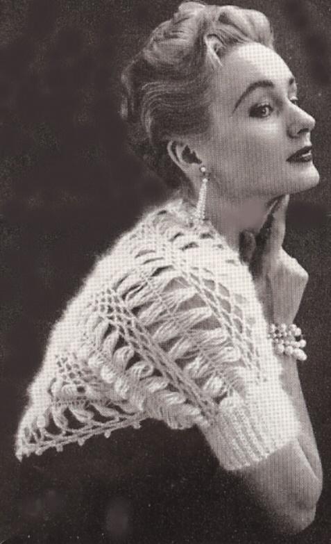 Vintage Hairpin Crochet Bolero