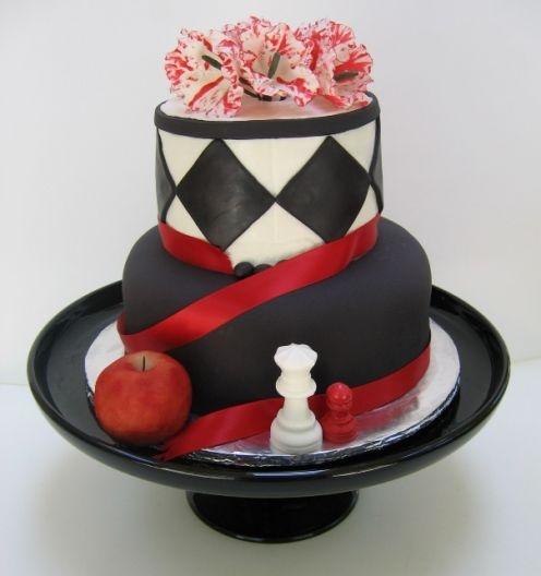 Twilight Chessboard Cake