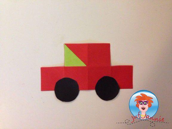 Auto vouwen – knutselen met kinderen