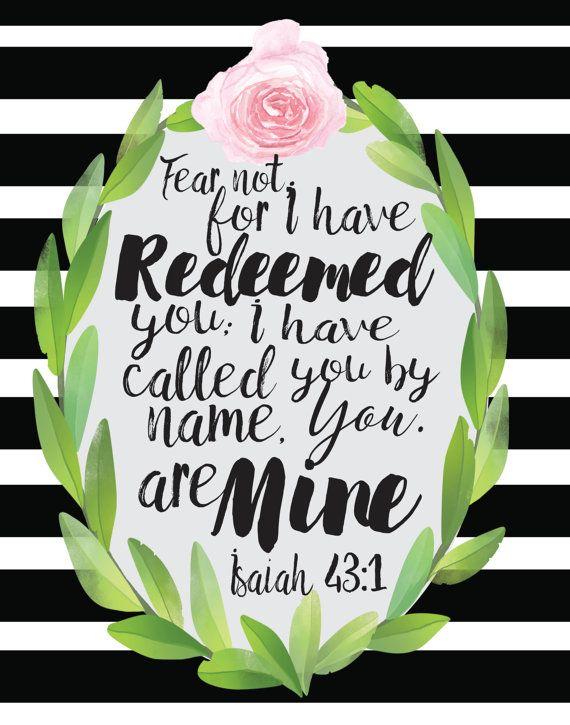 Isaiah 43:1 Print Download by RhiannonSkeenDesigns on Etsy