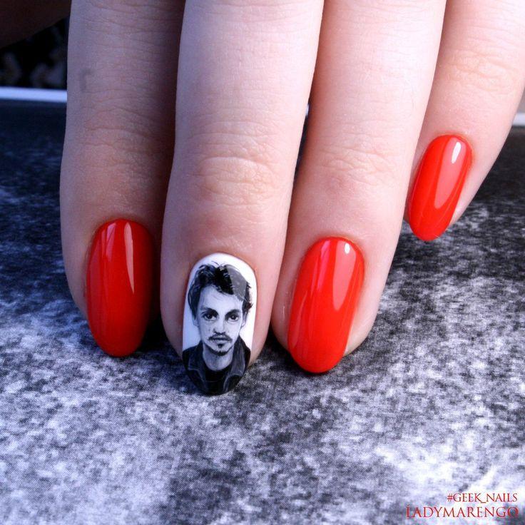 #geeknails  #шеллак #гельлак #нейларт #ногти #маникюр #дизайнногтей #nailart #naildesign #johnnydepp