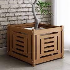 Image result for cachepot de madeira
