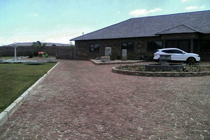 Driveway Red Cobbles EXACT Paving, Klerksdorp, Matlosana, KOSH, North West Province, South Africa