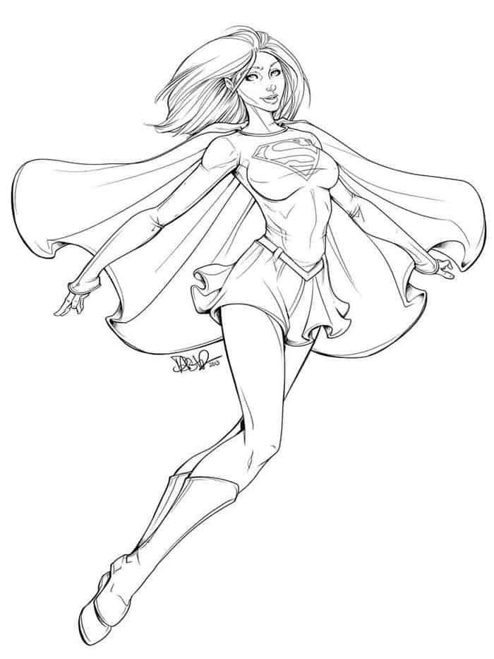 Dc Superhero Girls Coloring Pages Supergirl Power In 2020 Superhero Coloring Pages Superhero Coloring Coloring Pages For Girls